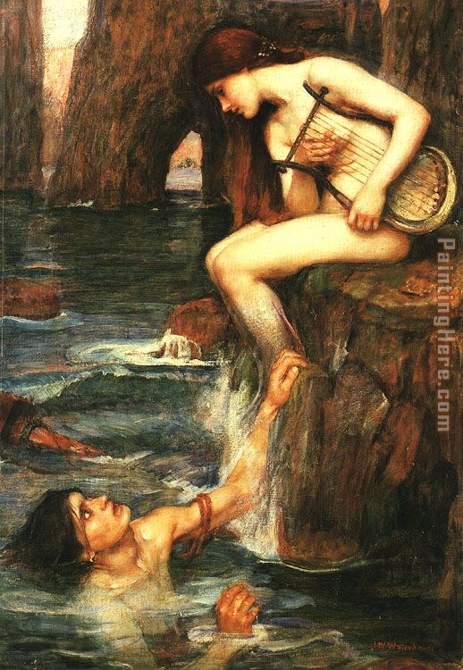 John William Waterhouse The Siren Art Painting